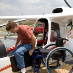 Brad Jones getting into plane
