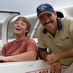 A happy new pilot with instructor Mike Davidson