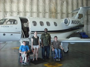 Able Flight students with Purdue jet