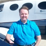 Randy Green with Cessna 421