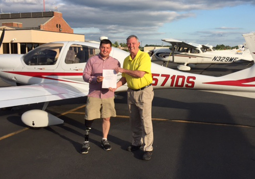 Wounded Marine Earns New Pilot's License