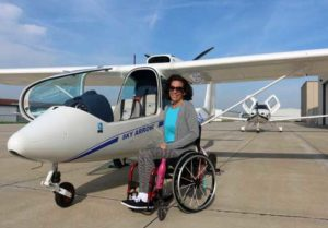 Able Flight scholarship Emily Hupe with Sky Arrow