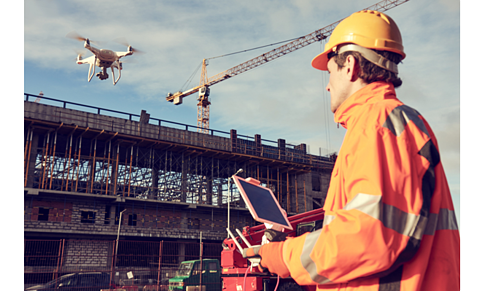 dRONE OPERATIONS AT CONSTRUCTION SITE
